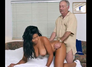 Asian granny handjob