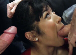Mature asian gangbang