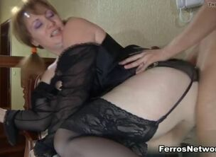 Mom in lingerie