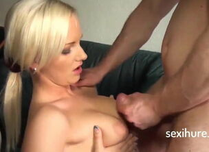 Blonde mom blowjob