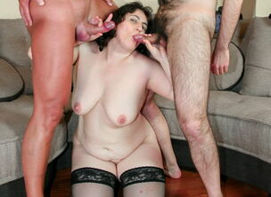 Bbw mature threesome
